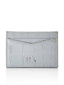 HA Designs Ha Designs Personalised Croc Initial Grey Card Holder Picture