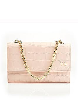 HA Designs Ha Designs Personalised Initial Blush Croc Chain Bag Picture