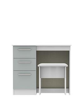 Swift Swift Montreal Ready Assembled Gloss Vanity Desk And Stool Set Picture