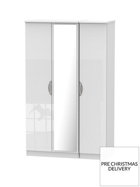 swift-belgravia-part-assemblednbsp3-door-high-gloss-mirrored-wardrobe