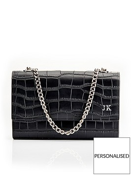 ha-designs-personalised-initial-blacksilver-croc-chain-bag