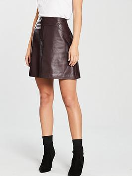 whistles-leather-a-line-skirt