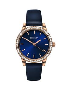 sekonda-blue-and-rose-gold-crystal-set-dial-blue-leather-strap-ladies-watch