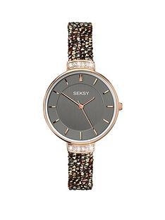 sekonda-seksy-rocks-grey-and-rose-gold-dial-skinny-caramel-rocks-strap-ladies-watch