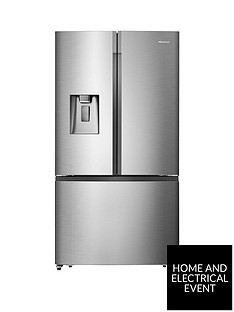 hisense-rf702n4is1-91cm-widenbsptotal-no-frost-french-door-food-centre-fridge-freezer--nbsppremium-stainless-steel-effect