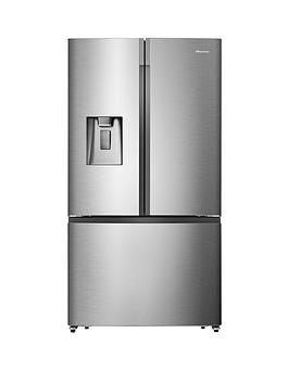 Hisense   Rf702N4Is1 91Cm Wide, Total No Frost , French Door, Food Centre Fridge Freezer - Premium Stainless Steel Effect (Doorstep Delivery Only)