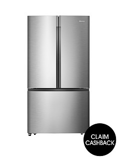 hisense-rf715n4as1-91cm-wide-total-no-frost-french-door-food-centre-fridge-freezer--nbspstainless-steel-effect