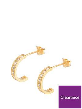 love-gold-9ct-gold-cubic-zirconia-channel-half-hoop-earrings