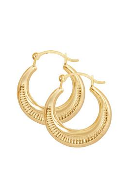 Love GOLD Love Gold 9Ct Gold 14Mm Round Creole Hoop Earrings Picture