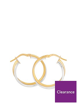 love-gold-9ct-two-tone-gold-24mm-double-hoop-twist-earrings