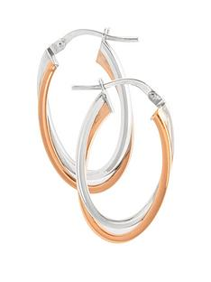 love-gold-9ct-two-tone-gold-oval-hoop-earrings