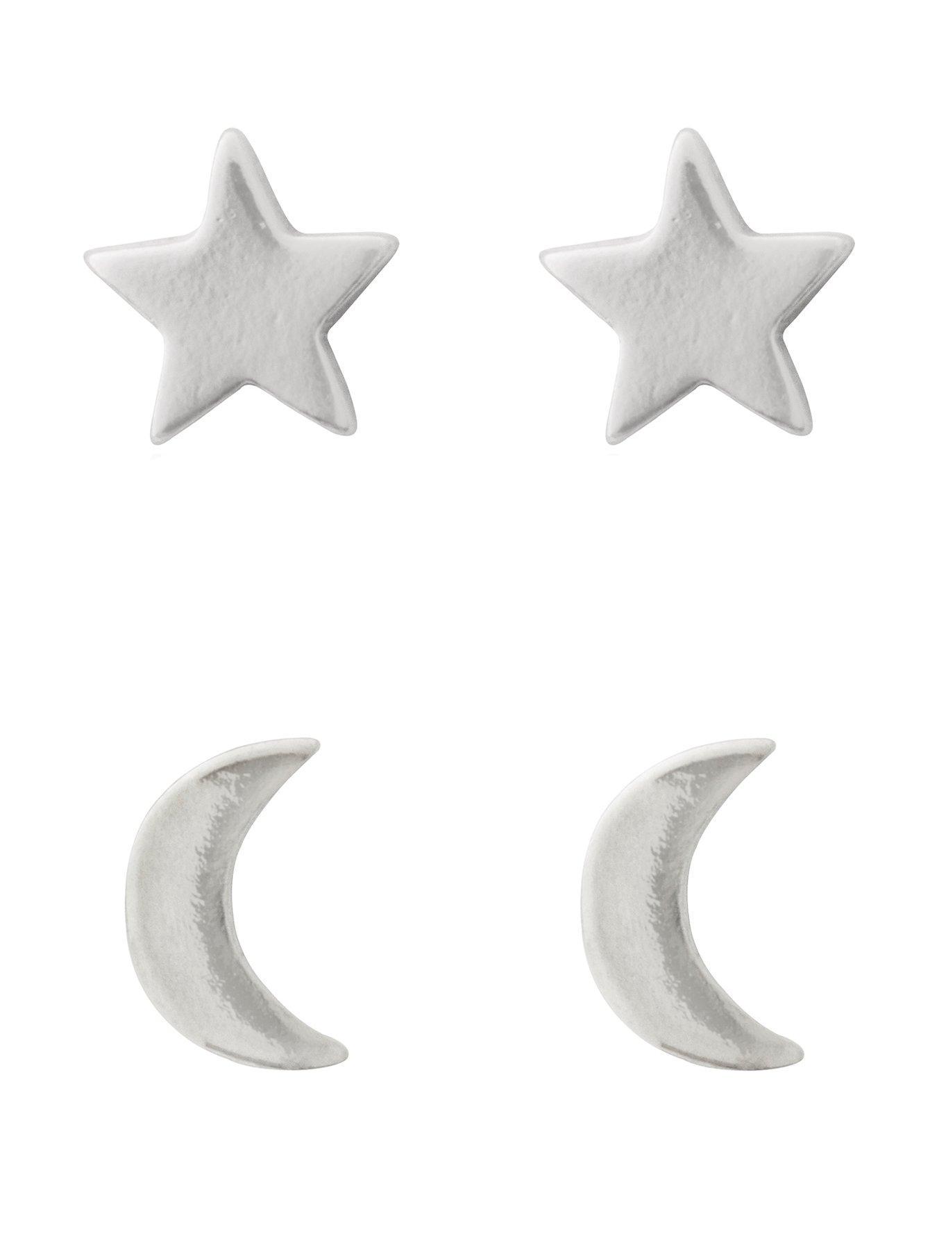 24mm Pack of 100 Medium 1 Silver Star Studs