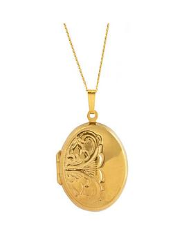 Love GOLD Love Gold 9Ct Rolled Gold Oval Pendant Locket Picture