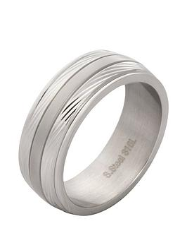 Very Ip Silver & Stainless Steel Mens Ring Picture