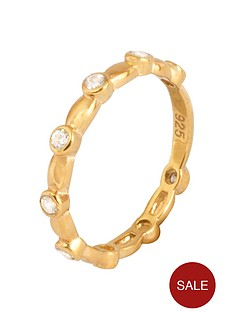 love-gold-gold-plated-sterling-silver-cubic-zirconia-stacker-ring