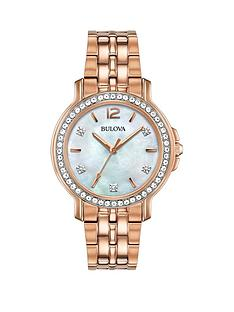 bulova-mother-of-pearl-and-crystal-set-dial-rose-gold-stainless-steel-bracelet-ladies-watch