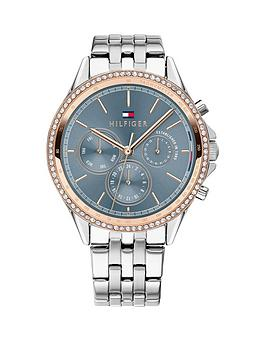 Tommy Hilfiger Tommy Hilfiger 1781976 Blue And Rose Gold Detail Dial  ... Picture