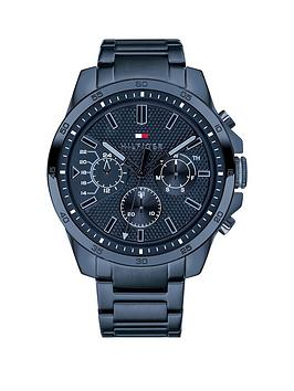 Tommy Hilfiger Tommy Hilfiger Tommy Hilfiger Blue Chronograph Dial Blue Ip  ... Picture