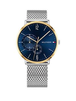 Tommy Hilfiger Tommy Hilfiger Tommy Hilfiger Blue And Gold Detail Dial  ... Picture