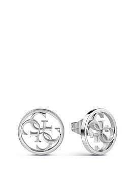 1fe86076b Guess Guess Silver Open Circle Logo Stud Earrings | littlewoods.com