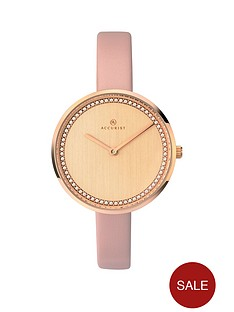 accurist-blush-and-jewelled-dial-pink-leather-strap-ladies-watch