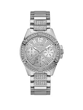 Guess Guess Guess Lady Frontier Silver Crystal Set Multi Dial Stainless  ... Picture