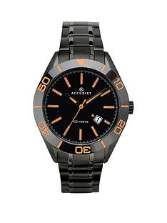 accurist-accurist-signature-collection-black-and-orange-detail-dial-black-stainless-steel-bracelet-mens-watch