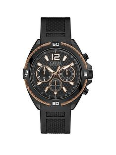guess-guess-black-and-rose-gold-detail-chronograph-dial-black-textured-silicone-strap-mens-watch