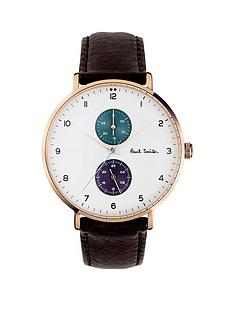 paul-smith-track-white-with-rose-gold-detail-and-purple-and-green-multi-dials-brown-strap-leather-watch