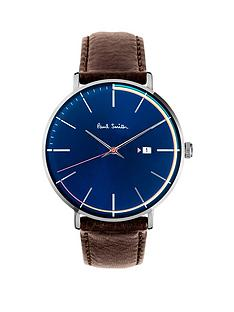 paul-smith-track-blue-and-multi-colour-outline-dial-brown-leather-strap-mens-watch
