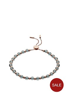 skagen-skagen-stainless-steel-rose-gold-and-green-beaded-slider-bracelet