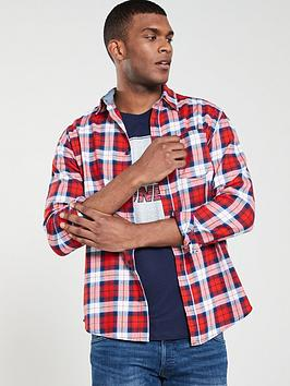jack-jones-nico-one-pocket-shirt-red