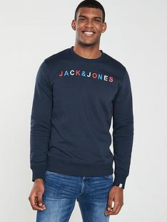 Jack   Jones Originals Embroidered Logo Sweat ecf0ceafa8
