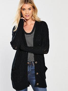 v-by-very-cable-knit-slouch-fit-button-through-cardigan-black