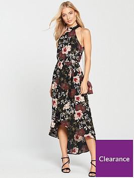 ax-paris-floral-print-high-low-hem-dress-blacknbsp