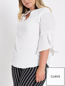 ri-plus-split-plunging-v-blouse-ivory