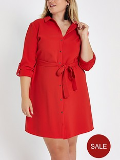 ri-plus-shirt-dress-red