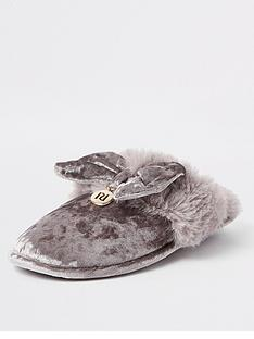 river-island-velvet-slipper-grey