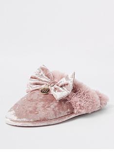 river-island-velvet-slipper-pink