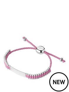 links-of-london-links-of-london-children039s-sterling-silver-amp-pink-cord-friendship-id-bracelet