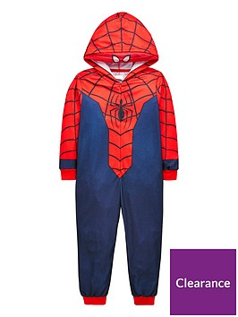 spiderman-boysnbsphooded-fleece-all-in-one-multi-coloured