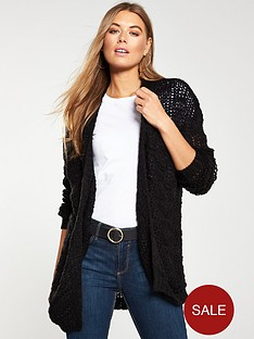 v-by-very-stitch-detail-edge-to-edge-cardigan-black