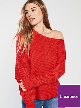 v-by-very-off-the-shoulder-horizontal-rib-slouch-jumper
