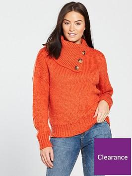 v-by-very-button-neck-detail-jumper-red-orangenbsp