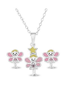 the-love-silver-collection-sterling-silver-children039s-fairy-pendant-and-earring-set