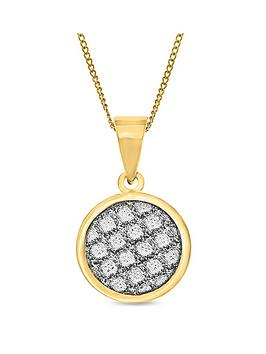 love-gold-9ct-gold-diamond-cut-sparkle-round-pendant-necklace