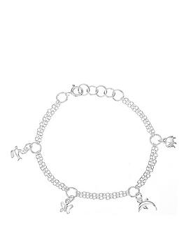 the-love-silver-collection-sterling-silver-two-row-children039s-multi-charm-bracelet