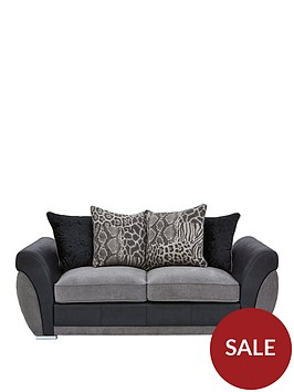 hilton-fabric-and-faux-leather-scatter-back-sofa-bed