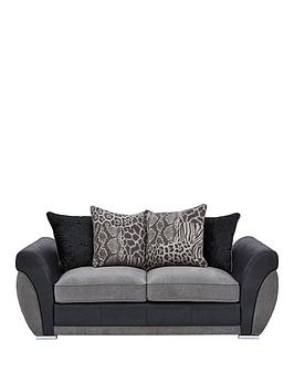 Very Hilton Fabric And Faux Leather Scatter Back Sofa Bed Picture