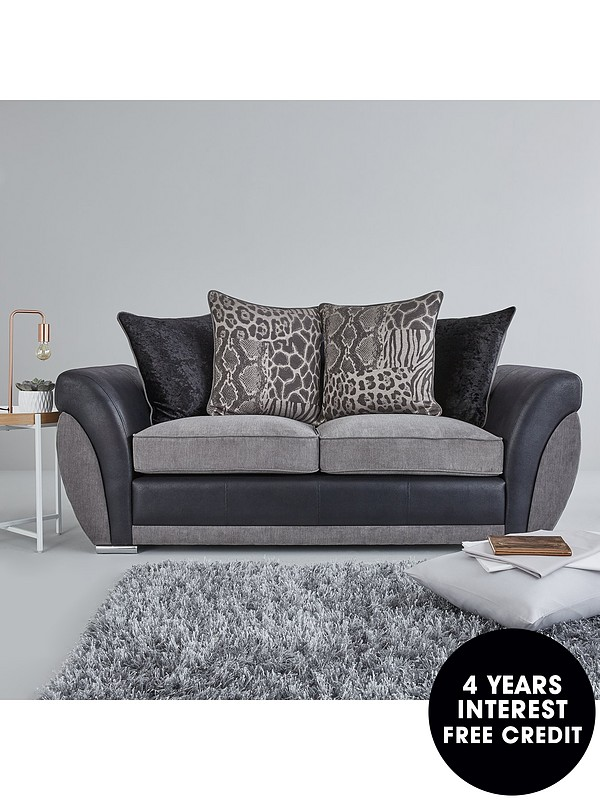 Faux Leather Ter Back Sofa Bed